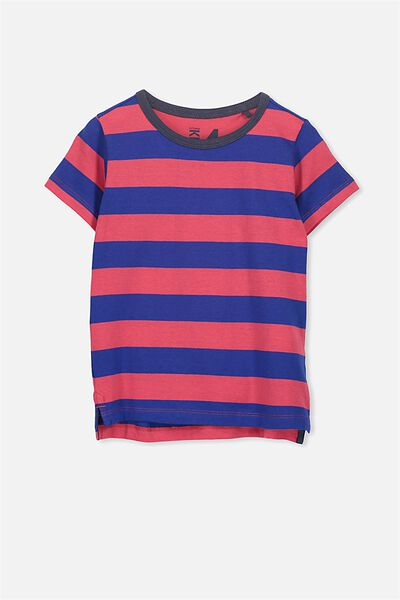 Max Short Sleeve Tee, BLUE RED YDS/NK RINGER