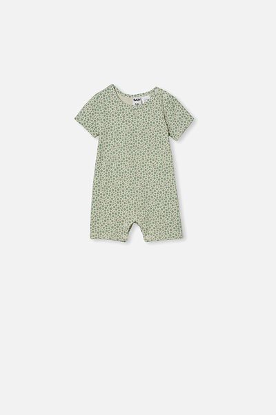 The Short Sleeve Romper, SMASHED AVO/EDITH FLORAL