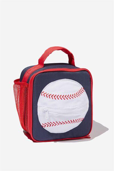 Kids Fancy Lunch Bag, NAVY BASEBALL