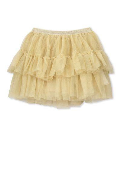 Britt Sparkle Tulle Skirt, SPARKLE GOLD