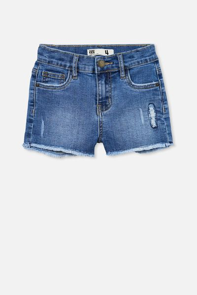 Cleo Raw Edge Denim Short, WEEKEND WASH