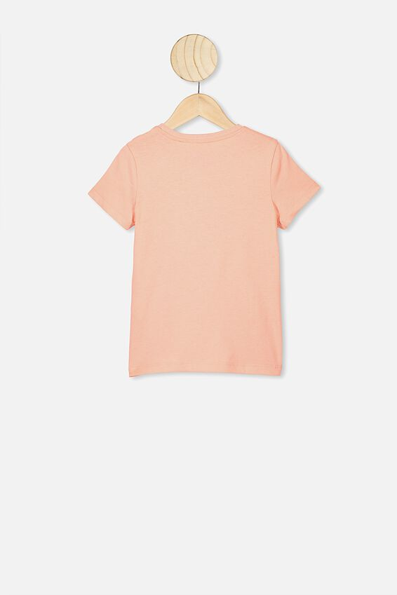 Penelope Short Sleeve Tee, PASTEL PEACH SASSY UNICORN HAIR