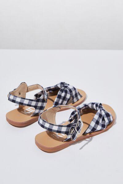 Mini Bow Sandal, GINGHAM