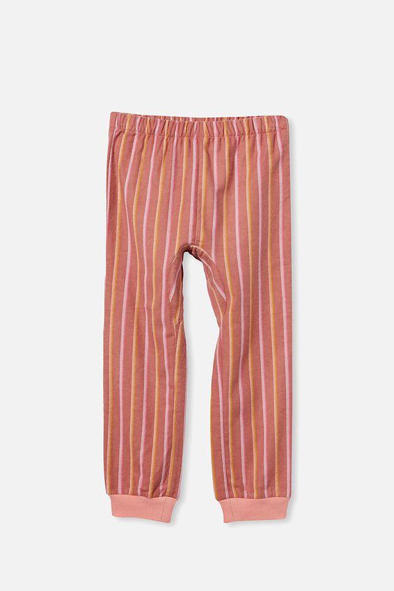 Angie Long Sleeve Pyjama Set, FINE STRIPE/CHUTNEY
