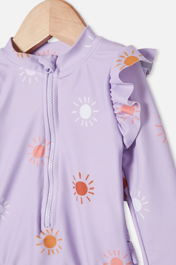 Lucy Long Sleeve Swimsuit, VINTAGE LILAC/SUNRAYS