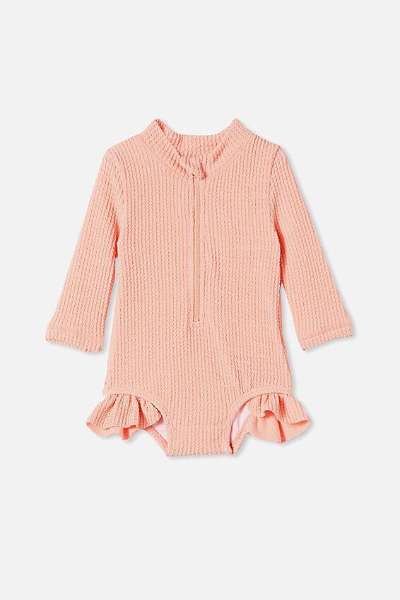 Elise Long Sleeve Swimsuit, MUSK MELON