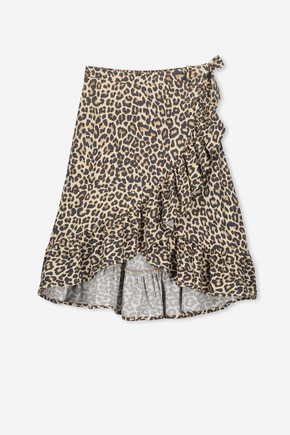Ria Ruffle Midi Skirt, NATURAL ANIMAL
