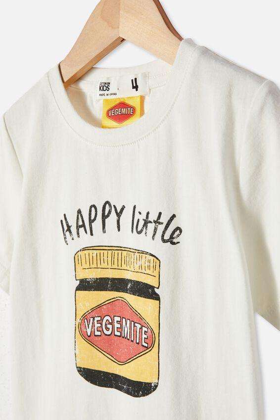 Vegemite short sleeve Tee, LCN VEG VANILLA/HAPPY LITTLE VEGEMITE