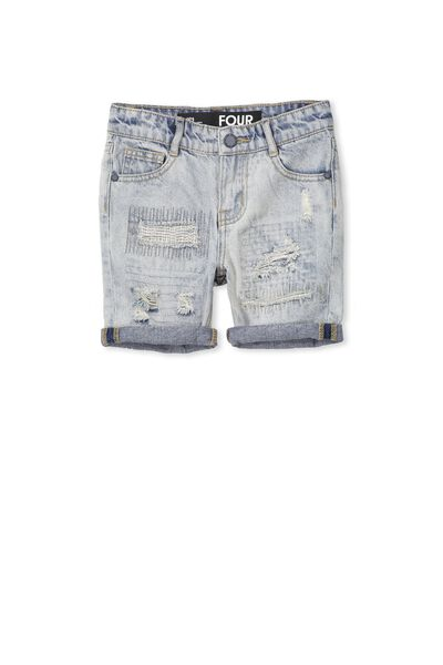 Pacey Denim Short, SUNBLEACHED BLUE