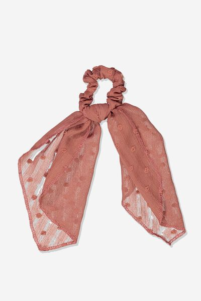 Scarf Scrunchie, RUSTY BLUSH