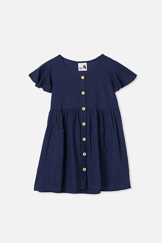 Vanessa Short Sleeve Dress, INDIGO