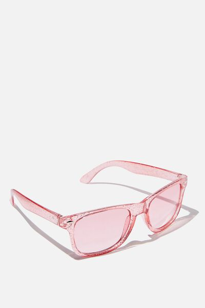 Kids Sunglasses, TRANSPARENT PINK GLITTER