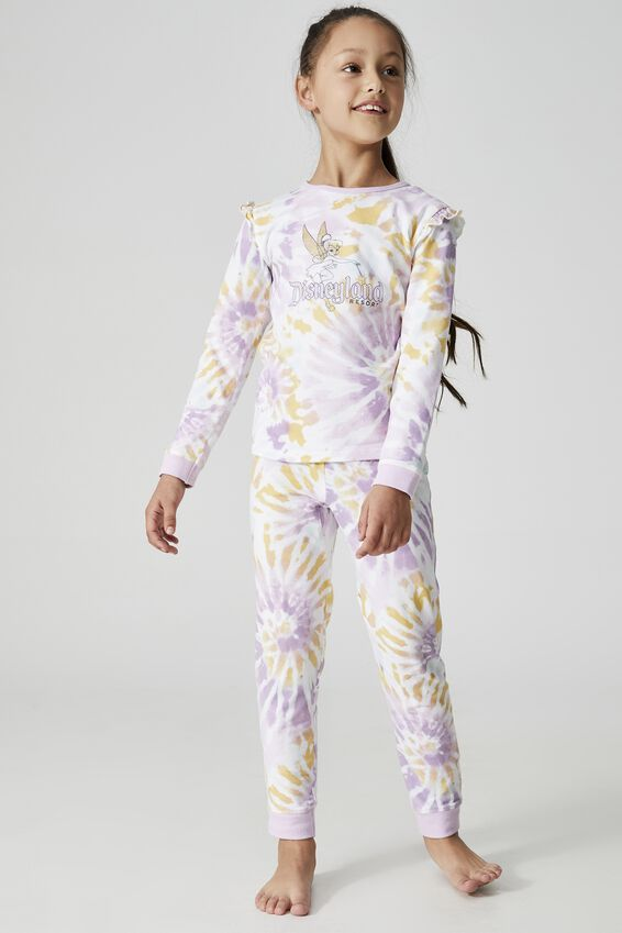 Disneyland Florence Long Sleeve Pyjama Set, LCN DIS DISNEYLAND RAINBOW TINKERBELL