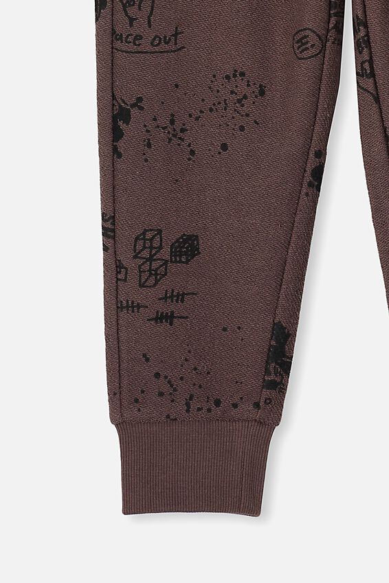 Heritage Trackpant, DUSTY BROWN/MIXED ELEMENTS