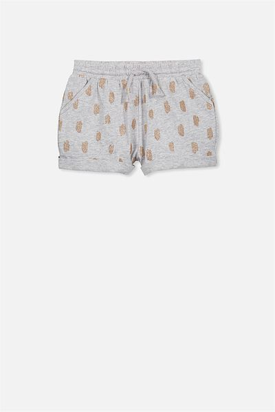 Nila Knit Short, LIGHT GREY MARLE/GLITTER DABS