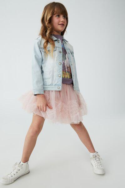 Trixiebelle Dress Up Skirt, DUSTY PINK RUFFLES