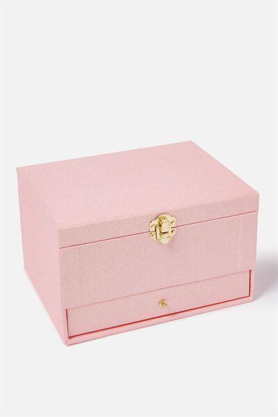 Jewellery Box, PINK GLITTER