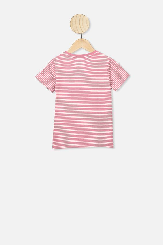 Penelope Short Sleeve Tee, VERY BERRY/DARK VANILLA/FLOWERS