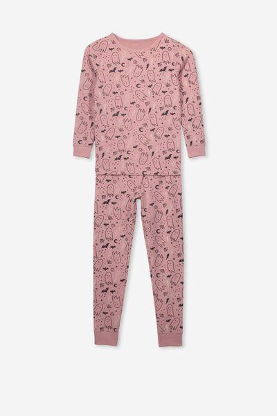 Lila Long Sleeve Pyjama Set, GHOSTIES/PINK