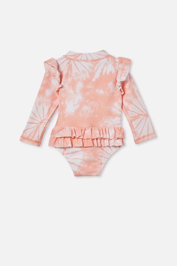 Lucy Long Sleeve Swimsuit, MUSK MELON TIE DYE