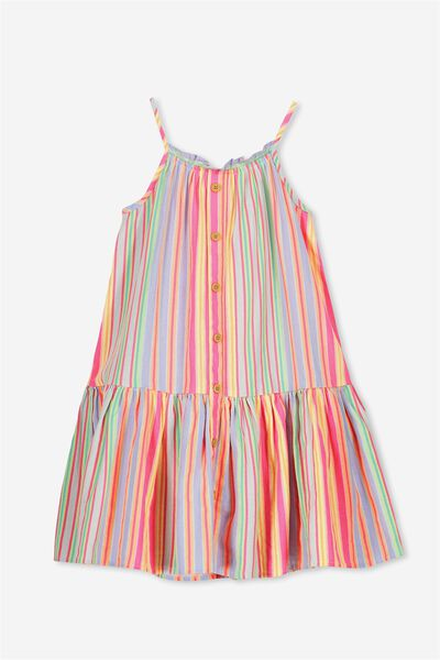 Lennie Dress, BRIGHT JOLLY STRIPE