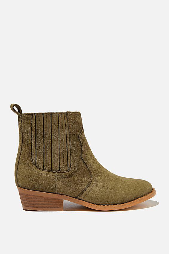 Western Boot - Beatle Green, BEATLE GREEN