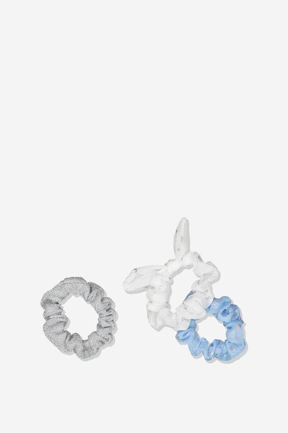 Mini Scrunchie, WHITE SPOT