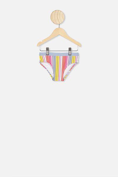 Pippa Bikini Bottom, DUSTY BLUE/MULTI STRIPE