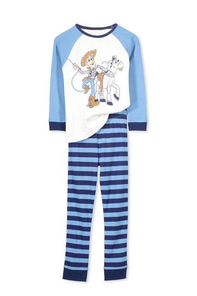 Jacob Boys Long Sleeve Raglan Pyjama Set, WOODY AND FRIENDS