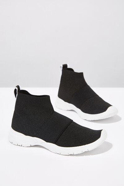 Knit Trainer, BLACK 2