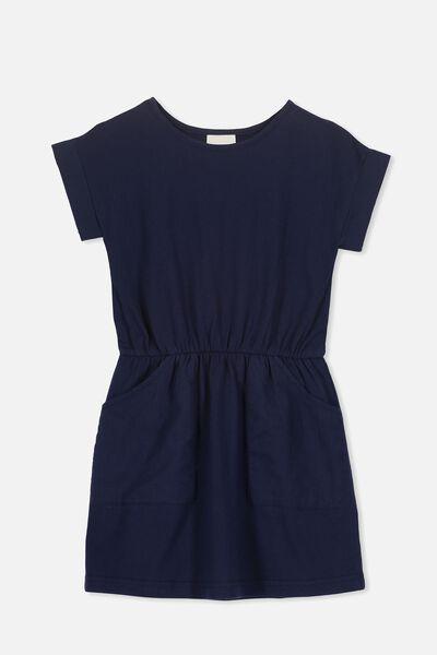 Sibella Short Sleeve Dress, PEACOAT
