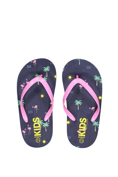 Printed Flip Flop, G FLAMINGO BEACH