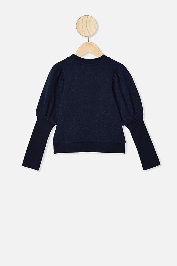 Palila Puff Sleeve Fleece, NAVY BLAZER