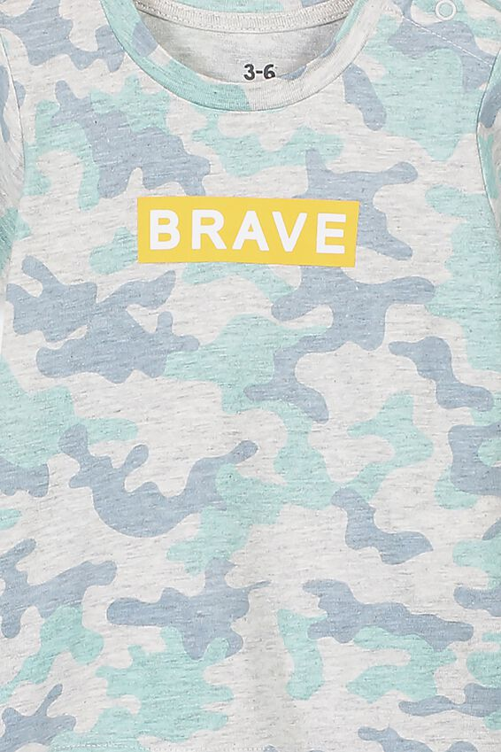 Jamie Short Sleeve Tee, CLOUD MARLE/CAMO BRAVE