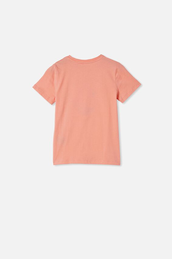Stevie Short Sleeve Embellished Tee, MUSK MELON/ HEART