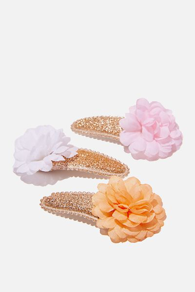 Hair Clip - Goldy Flowers, GOLD