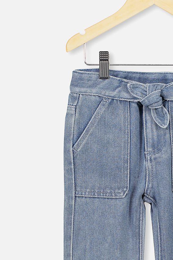 Blair Tie Front Jean, MID BLUE WASH
