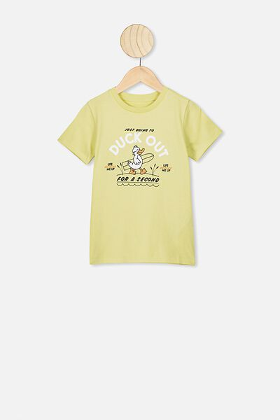 Max Short Sleeve Tee, LEMON DROP/DUCK OUT