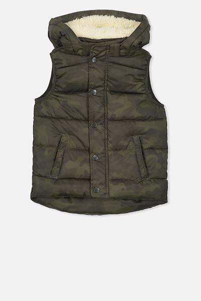 Palmer Puffer Vest, GREY CAMO