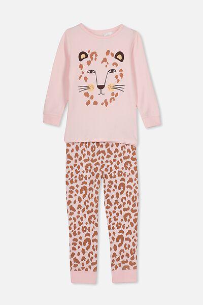 Ruby Long Sleeve Girls Pyjamas, ANIMAL FACE