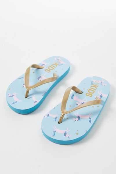Printed Flip Flop, G UNICORNS