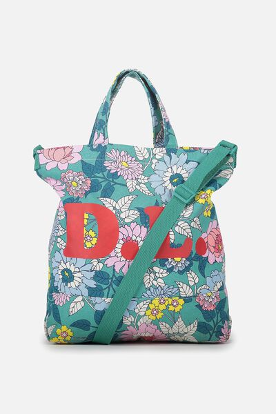 Personalised Printed Beach Tote, VINTAGE FLORAL