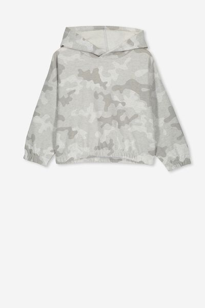 70274ee1829bf Suvi Crop Hoodie, SUMMER GREY MARLE/CAMO. Cotton On Kids. Suvi Crop Hoodie.  R249.00. 6 colours available