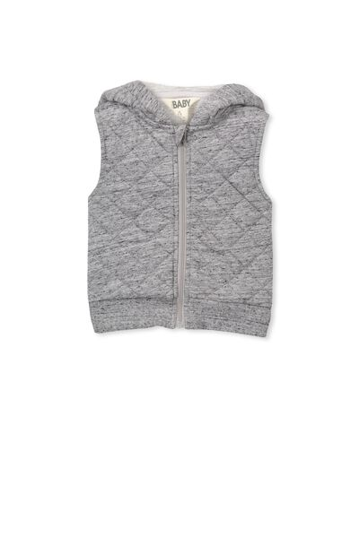 Theo Puffer Vest, GREY MARLE