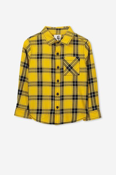 Noah Long Sleeve Shirt, GOLDEN GLOW CHECK