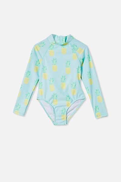 Lydia One Piece, DREAM BLUE/PINEAPPLES