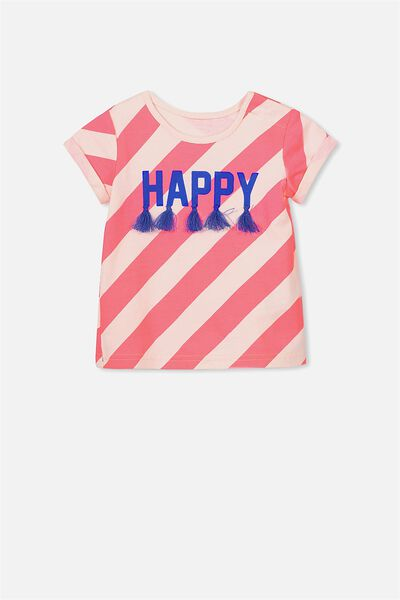 Ginger Ss Tee, SHELL PEACH/HAPPY