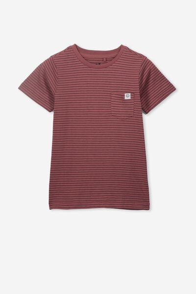 Core Short Sleeve Tee, HENNA PHANTOM STRIPE