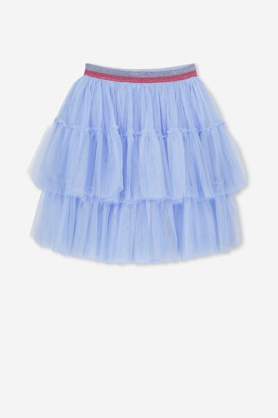 Trixiebelle Tulle Skirt, BLUE SKY/TIERED