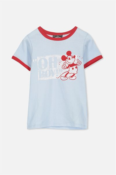 Lux Short Sleeve Tee, MICKEY OH BOY YOLO BLUE/RINGER